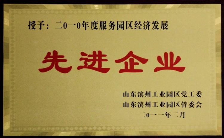 2010年滨州工业园区先进企业